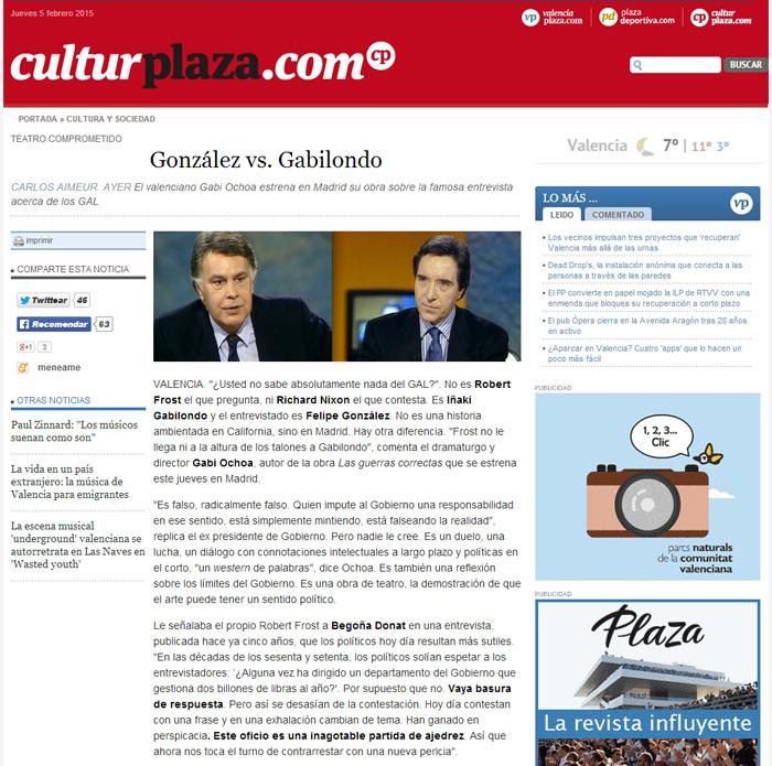 Valencia Plaza_culturplaza noticias Las guerras correctas
